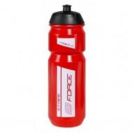 Bidon hidratare FORCE Stripe 750 ml roşu/alb
