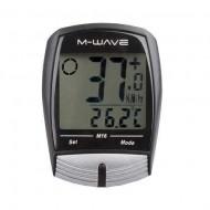 Bike computer 16F M-WAVE - cu cablu