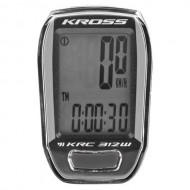 Bike computer KROSS KRC 312W 12F negru/gri - wireless