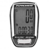 Bike computer KROSS KRC 312W 12F negru/alb- wireless