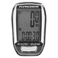 Bike computer KROSS KRC 312W 12F negru/alb- wireless