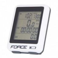 Bike computer FORCE 10F alb - cu fir