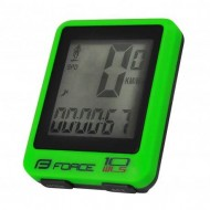 Bike computer FORCE WLS 10F verde - wireless