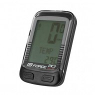 Bike computer FORCE WLS 20F negru - wireless