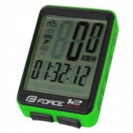 Bike computer FORCE 12F negru/verde - wireless