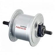 Butuc față cu dinam SHIMANO NEXUS DH-C3000-3N-NT 32H argintiu