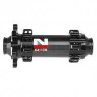Butuc față Road Carbon NOVATEC D411CB 2 rulmenți QR 3 în 1 28H negru