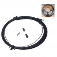 Cablu + cămașă frână față + capete protecție
