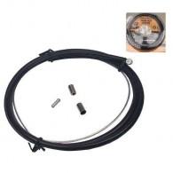 Cablu + cămașă frână față disc + capete protecție
