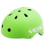 Cască protecție YEAH! BMX/Freestyle verde