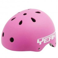 Cască protecție YEAH! BMX/Freestyle roz