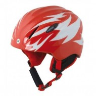 Cască protecție FORCE Ski Baby roşu/alb
