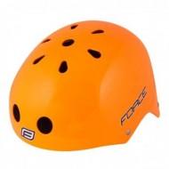 Cască protecție FORCE BMX portocaliu L-XL