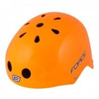 Cască protecție FORCE BMX portocaliu S-M