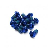Set 12 şuruburi disc REVERSE - albastru
