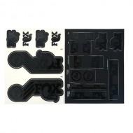 Stickere FOX Racing Shox 2015 AM Heritage pentru furcă și shock stealth black