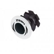 Capac și floare furcă ZOOM 1.1/8 - argintiu
