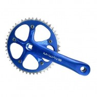 Angrenaj pedalier M-WAVE - ax pătrat - single speed albastru