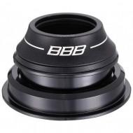 """Cuvete furcă BBB 1 1/8""""-1.5"""" 44/56 mm negru - semi-integrate tapered"""
