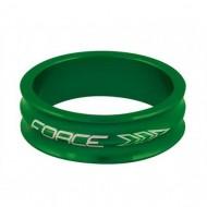 "Distanțier furcă FORCE 2 1.1/8"" 10mm - a-head verde"