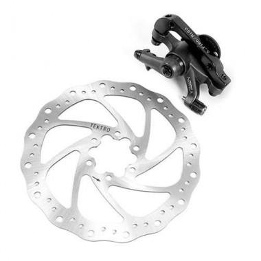 Set disc 160 mm + etrier mecanic TEKTRO