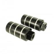 Peguri aluminiu 10x48x110mm (filet Ø10mm) negru