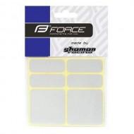 Autocolante cadru FORCE 6 bucăţi - argintiu reflectorizant