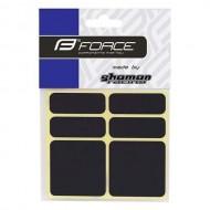 Autocolante cadru FORCE 6 bucăţi - negru reflectorizant