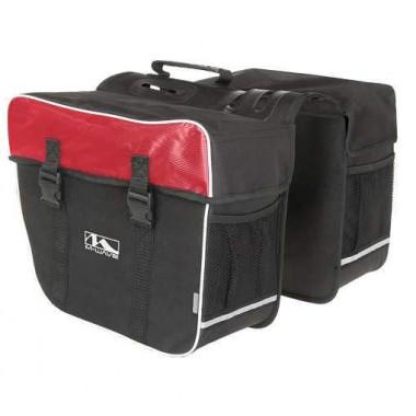Geantă portbagaj 2 piese M-WAVE 30 litri Roșu