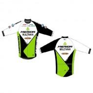 Bluză ciclism MERIDA Nortex Thermo Team verde/alb/negru
