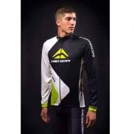 Bluză ciclism MERIDA Nortex Thermo verde/alb/negru mărime S