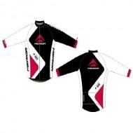 Bluză ciclism MERIDA Nortex Thermo roșu/alb/negru