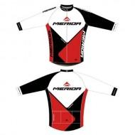 Bluză ciclism MERIDA Nortex Thermo 41 roşu/alb/negru
