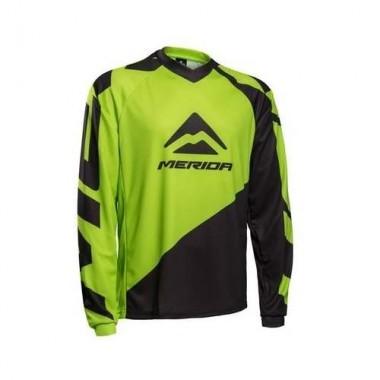 Bluză ciclism MERIDA Freeride Enduro verde/negru mărime L