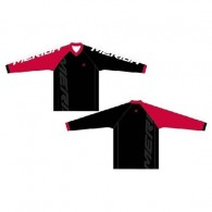 Bluză ciclism MERIDA Freeride Enduro roșu/alb/negru mărime S