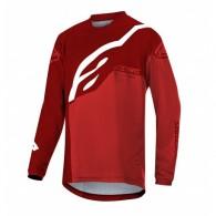 Bluză ciclism ALPINESTARS Youth Racer Factory LS roşu/alb mărime L