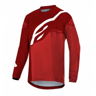 Bluză ciclism ALPINESTARS Youth Racer Factory LS roşu/alb mărime XL