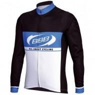 Bluză ciclism BBB Team Jersey negru/alb/albastru mărimea S