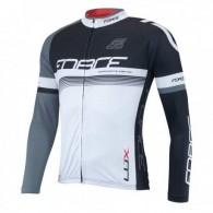 Bluză ciclism unisex FORCE Lux negru/alb mărime M