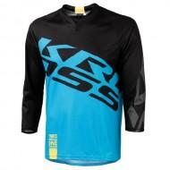 Bluză ciclism enduro KROSS Hyde albastru mărime L