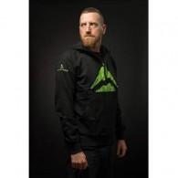 Jachetă ciclism MERIDA Team Hoodie negru/verde mărime XL