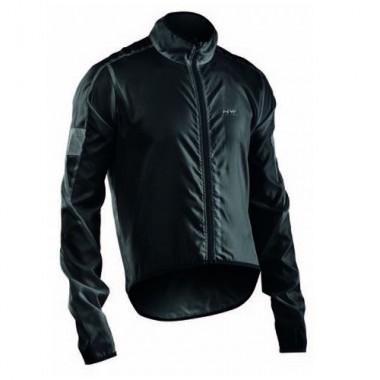 Jachetă ciclism vânt NORTHWAVE Vortex negru mărime M