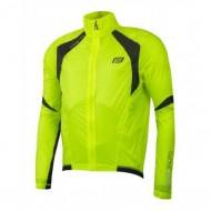 Jachetă ciclism FORCE Junior X53 - fluo/negru 128-140 cm
