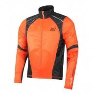 Jachetă ciclism FORCE X53 - portocaliu/negru