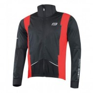 Jachetă ciclism FORCE X58 - negru/roşu