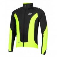 Jachetă ciclism FORCE X68 - negru/fluo