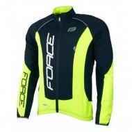 Jachetă ciclism FORCE X68 Pro - negru/fluo