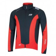 Jachetă ciclism FORCE X68 - negru/roşu