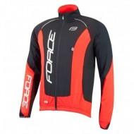 Jachetă ciclism FORCE X68 Pro - negru/roşu