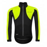 Jachetă ciclism FORCE X100 Winter negru/fluorescent mărime L